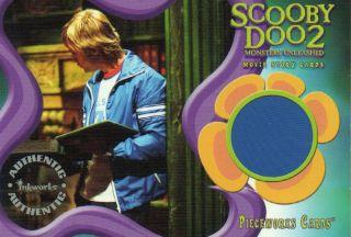 Scooby Doo 2 Movie Pieceworks Card PW1 Freds Jacket