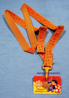 Disney Lilo & Stitch Pin Trading Lanyard Logo Card Flower Charm
