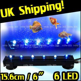 Aquarium Fish Tank Air Curtain Bubble Wall LED Light 6