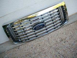 Ford F150 F 150 10 11 12 2010 2011 2012 Grille Chrome Genuine w Emblem