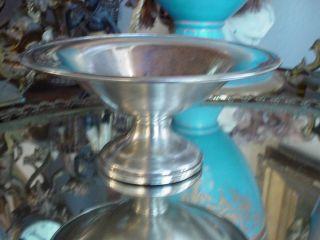 Mueck Carey Art Deco Sterling Silver Compote 190g Scrap or Resale