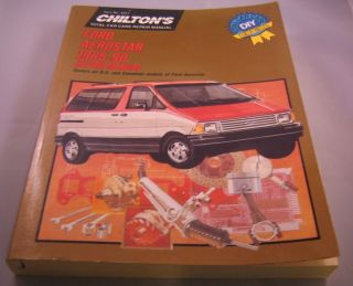 Ford Aerostar 1985 90 Freeman Steele Chilton Book Company 1990