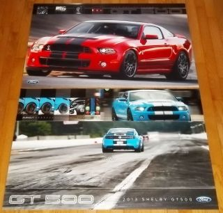 New 2013 Ford Mustang Cobra Shelby SVT GT500 24 x 36 Dealer Only