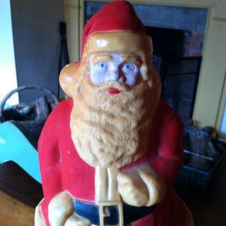 Vtg 17 1950s Hard Plastic Santa Claus Light Up Christmas Blow Mold
