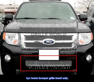 08 2012 Ford Escape Bumper Stainless Steel Chrome x Mesh Grille Grill