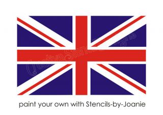 PC Stencil 6 Union Jack Flag British London England Honor Patriotic