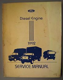 1992 FORD TRUCK F600 700 800 OTHERS 6 6L 7 8L TURBO DIESEL ENGINE SHOP