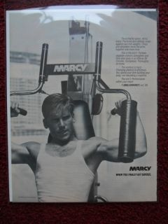 Print Ad Marcy Home Gym Exercise Bodybuilding Fitness Equipment