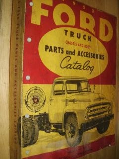 1953 Ford Truck Parts Accessories Catalog Body and Chassis Parts Book