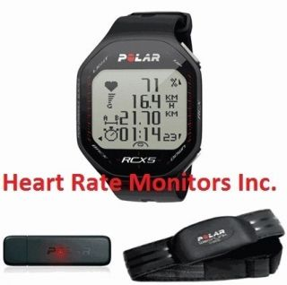 RCX5 BLACK Heart Rate Monitor Watch Fitness Reviews Exercise Wrist HRM