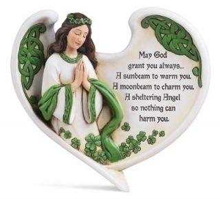 Josephs Studio Ireland Irish Angel Knot Work Shamrock Blessing Plaque