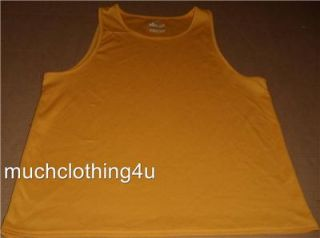 Mens Frank Shorter Running Gear Tank Top Shirt Large L Yellow Run