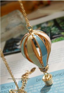 1Pc Fire Balloon Style Long Sweater Chain Charms Pendant Costume