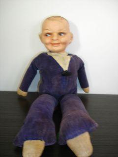 Antique Googly Composition Unmarked Freundlich Eyes Dutch Doll