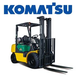 07 Komatsu FG25T 16 Pneumatic Truck Fork Forklift 5000lb Yard Lift