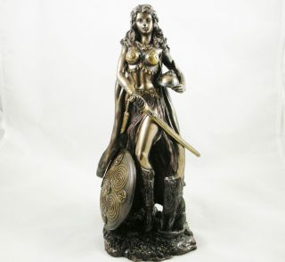 FREYA Goddess of War STATUE Ancient Norse Mythology Freyja BRONZED