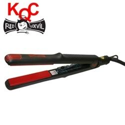 KQC Red Devil Tourmaline Ceramic Flat Iron 1 Inch