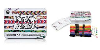 Friendship Bracelet Making Kit 12 Colored Yarns Colored & Safety Pins