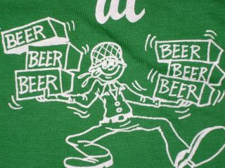70s M t shirt army drunk soldier beetle bailey fort drum beer new york