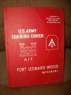 US Army Vietnam Era yearbook Fort Leonard Wood Mo AIT 1967 1st Brigade