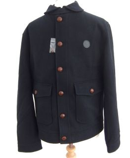 New Fred Perry J6247 Navy Blue Pure Wool Blouson Jacket BNWT