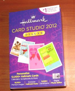 Hallmark Card Studio 2012 Deluxe New in Box PC Software Calendars
