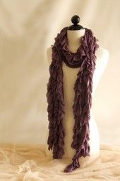Ryu Ruffled Scarf in Purple
