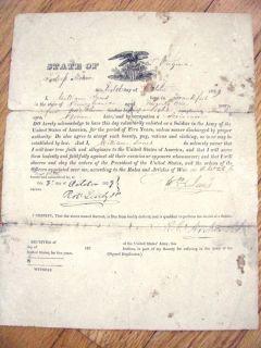 Archer Tredegar Iron Works SGD Fort Monroe Army Enlistment 18