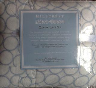Hillcrest Micro Fleece Queen Sheet Set Luxurious Soft Warm Cozy New