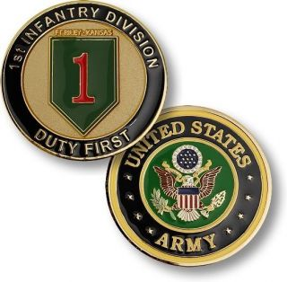 Army Fort Riley 1st Infantry Duty First Challenge Coin