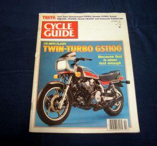 Cycle Guide October 1981 Twin Turbo Suzuki GS1100 Yamaha XV920 Suzuki