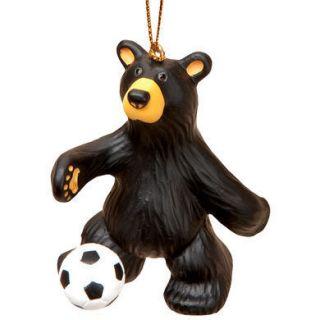 Bears Soccer Bear Christmas Tree Ornament Artist Jeff Fleming