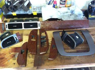 Tahoe Yukon Dash AC Vents Trim Pieces Wood Grain Window Switch Bezel