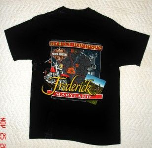 Harley Davidson T Shirt from H D Frederick Maryland Size Medium