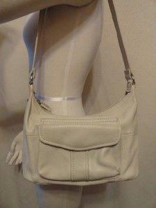 fossil small cream leather hobo handbag purse purses