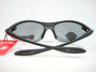 Foster Grant Sport Black Sports Polarized Sunglasses First Down New