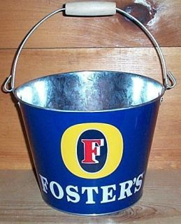 Fosters Lager 5qt Metal Beer Ice Bucket Bar Cooler