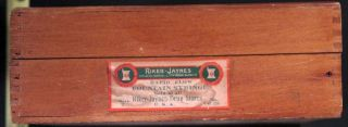 Vintage Riker Jaynes Rapid Flow Fountain Syringe Box