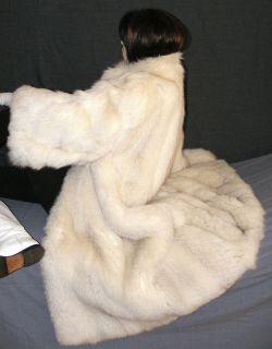 Luxus Echt Pelz Fuchs Mantel Real Fox Fur Coat Mondän Edel Helle