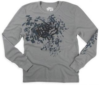 Fox Racing Rockstar Long Sleeve Thermal Shirt Grey Adult Large L Co