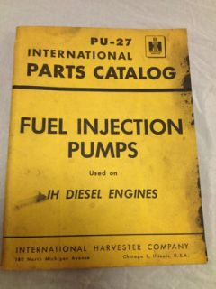 International Parts Catalog PU 27 Fuel Injection Pumps