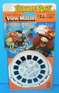 Fraggle Rock 1984 View Master 3 Reel Set with Package