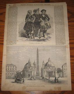 Vivandières Woman French Army Camp Followers 1859 Print
