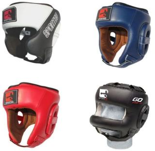 Sporteq Leather Open Full Bar Face Boxing Martial Arts Headguard