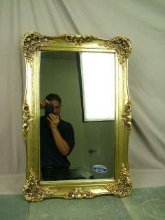 Antique Gilt Gold Frame Mirror Style Bathroom Medicine Cabinet 28x19