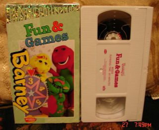 Barneys Fun Games VHS Video Classic Collection Actimates Free US 1st