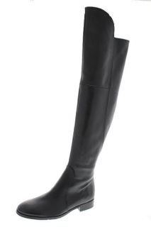 Franco Sarto NEW Tripod Black Leather Block Heels Over The Knee Boots