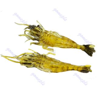 2G Soft Prawn Shrimp Bait Fluke Fishing Saltwater Lure Tackle