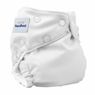 Fuzzi Bunz One Size Pocket Diaper White Cloth Diapers White Diapers