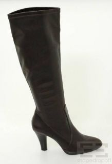 Franco Sarto Brown Vegan Leather Knee High Boots Size 9M NEW
